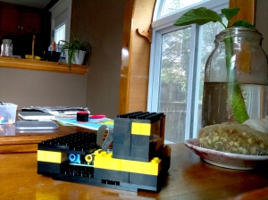 A camera made of legos!  I've built two of these; the photo was taken with the _other_ raspberyy pi camera.