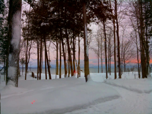 A still from a test-reel of timelapse taken at Owen Sound, in North-ish Ontario last week.